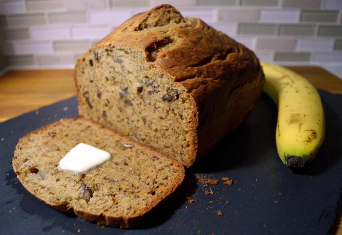 banana bread bread machine recipe