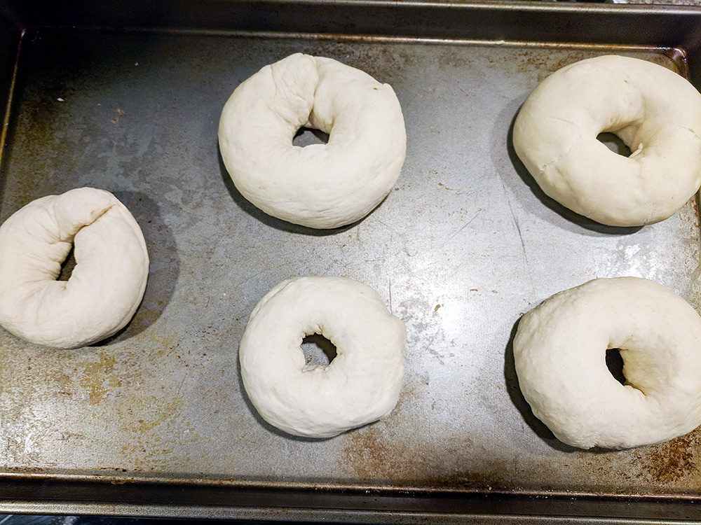 shaping the bagels
